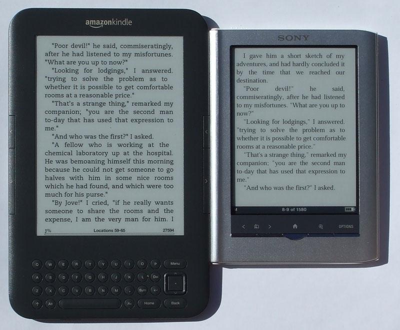 Kindle Vs Sony Reader: Sony Pocket Edition