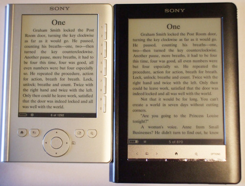 sony prs 300 pocket edition review hands on video review rh the ebook reader com Sony Reader Pocket Edition Sony Reader PRS- 600