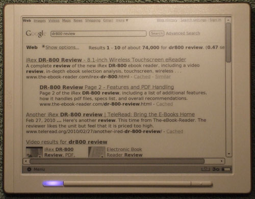 DR-800 Web Browser