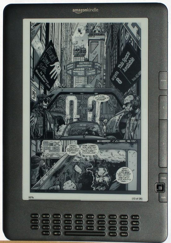 Kindle DX Comic Landscape