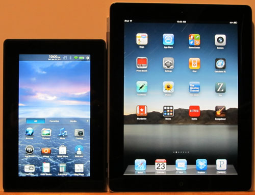 iPad 2 vs BlackBerry PlayBook