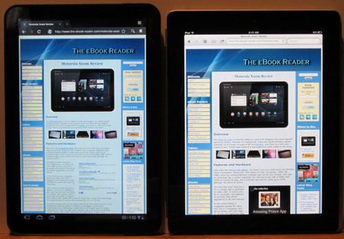 iPad 2 vs Xoom