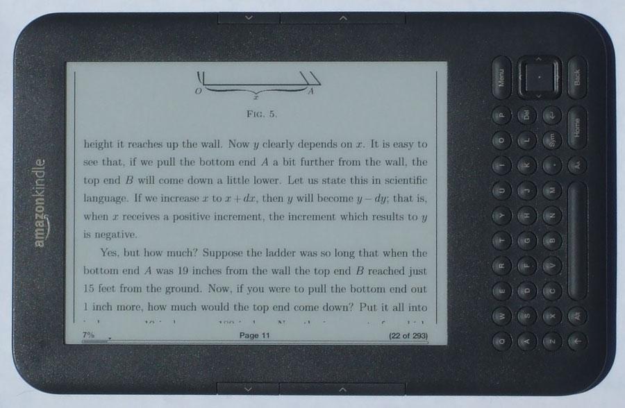 Kindle 3 pdf review and video review default pdf layout landscape ccuart Images