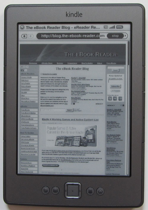 Kindle 4 Review