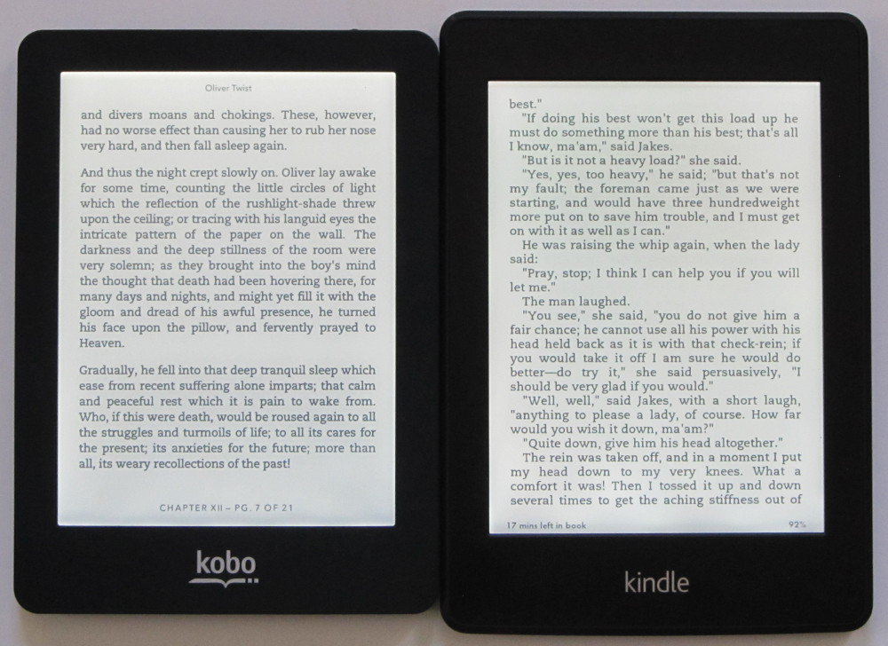 Kindle Paperwhite vs Kobo Glo