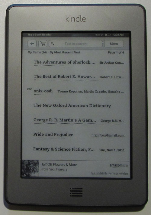 Kindle Touch Review and How To Tutorials