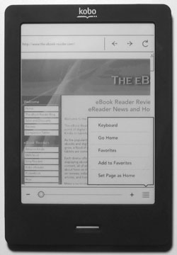 Kobo Touch Browser