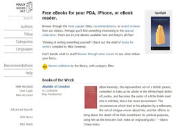 Manybooks Homepage