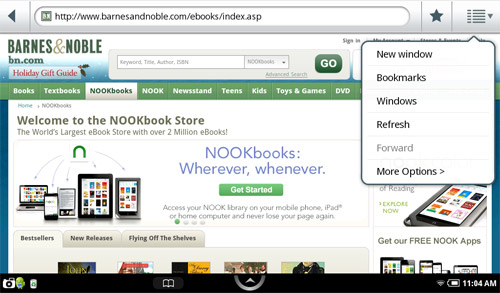 nook color browser