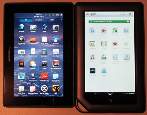 Nook Color vs PlayBook
