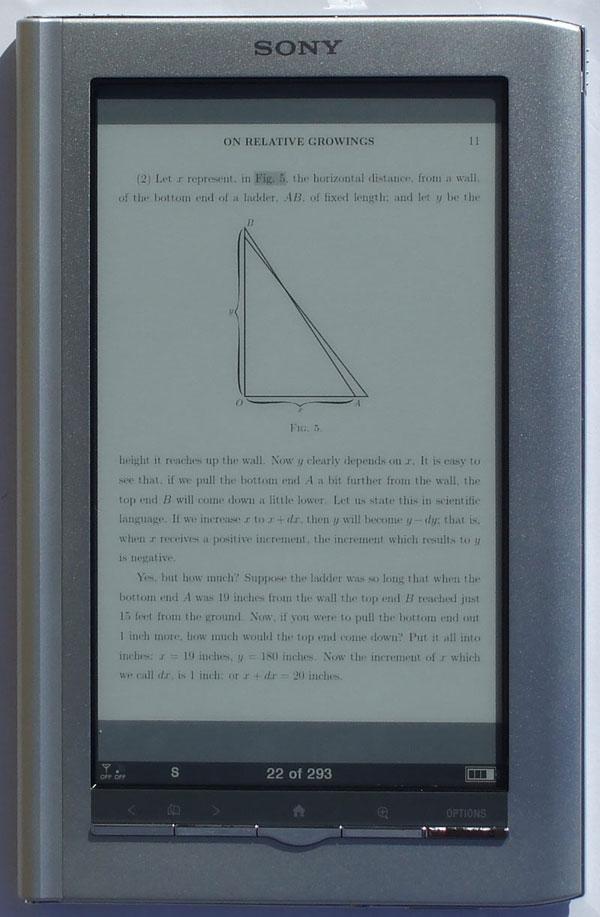 can sony ebook reader read pdf