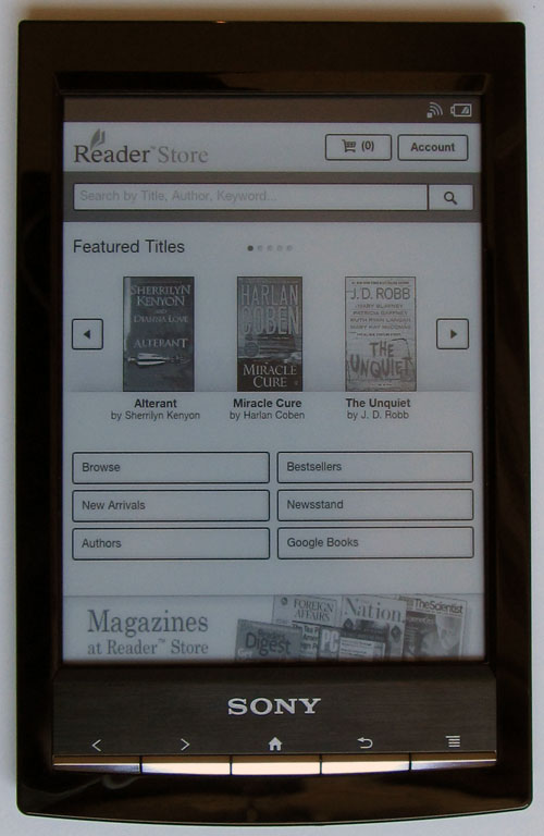 sony prs t1 reader wi fi review rh the ebook reader com Sony Reader Library Sony Reader Review
