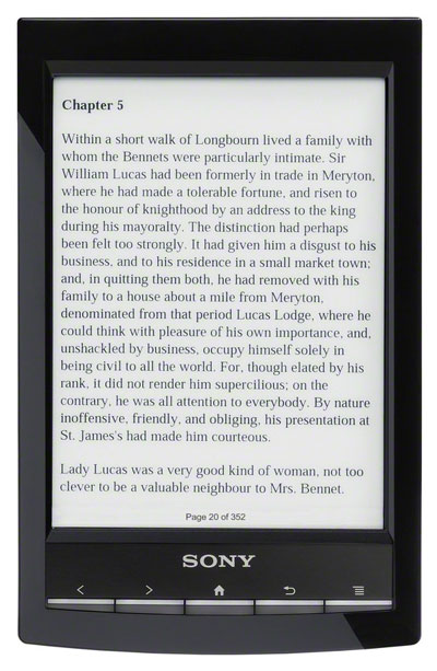 sony prs t1 reader wi fi review rh the ebook reader com Sony Reader PRS -T2 Sony Reader PRS -T2